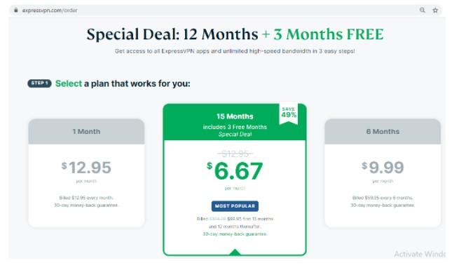 different subscription plans