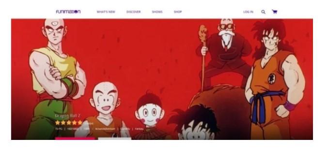 login into Funimation