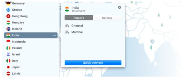 Select Indian servers