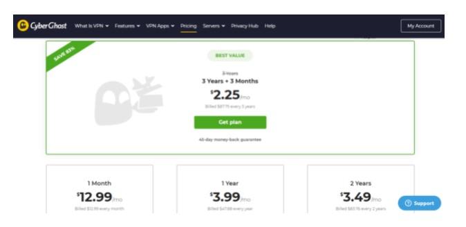 official website CyberGhost VPN